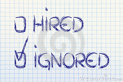 candidate-ignored-negative-recruitment-process-outcome-hired-multiple-choice-representing-possible-results-35430384